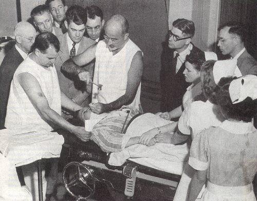 Stories of Insane Asylum Patients | Dr. Freeman performs a trans-orbital lobotomy in 1949.