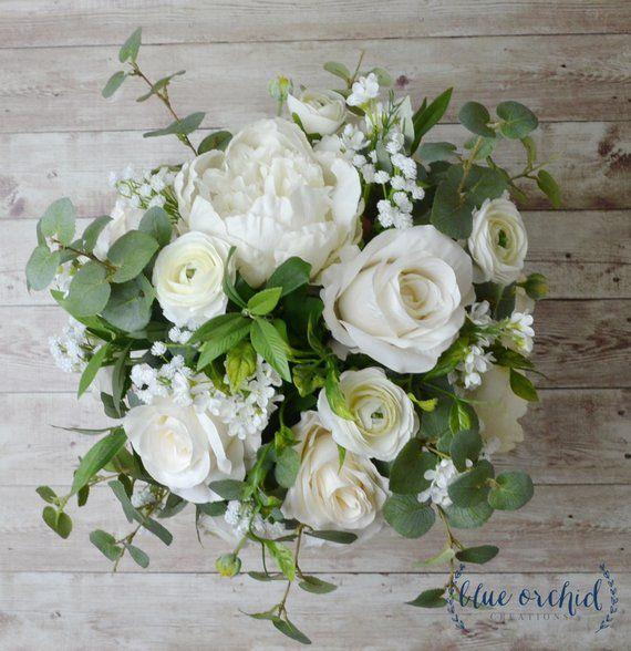 Silk Wedding Bouquet Boho Bouquet Bridal Bouquet Greenery Etsy Fresh Wedding Flowers Bridal Bouquet Wedding Flowers