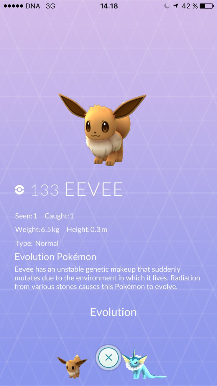 Caught my first Eevee yesterday!