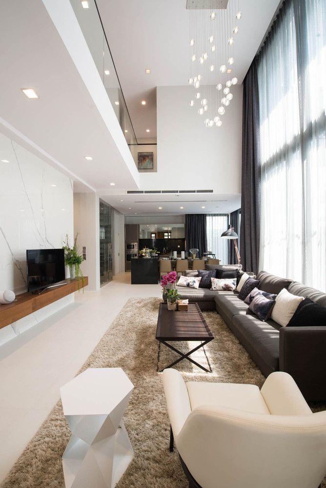 Modern Living room Interior of The Honor Residence, Maha Nakhon, Thailand
