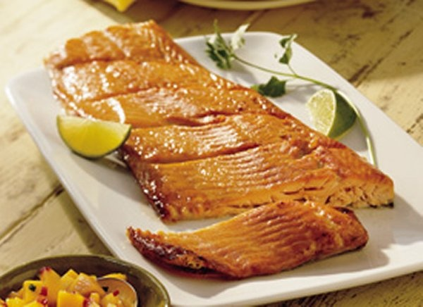 salmon with mango and brie recipes dishmaps salmon with mango and brie ...