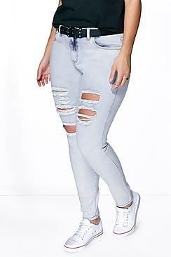 Plus Anna Ripped Skinny Jean