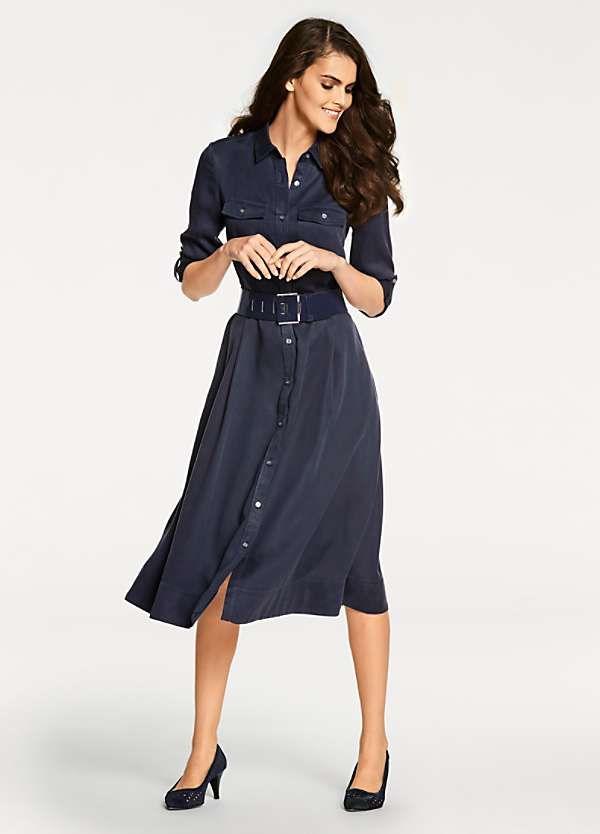 ce6a0f9954cf6e A-Line Dress by Heine | Work It | Dresses, High waisted skirt, Short ...