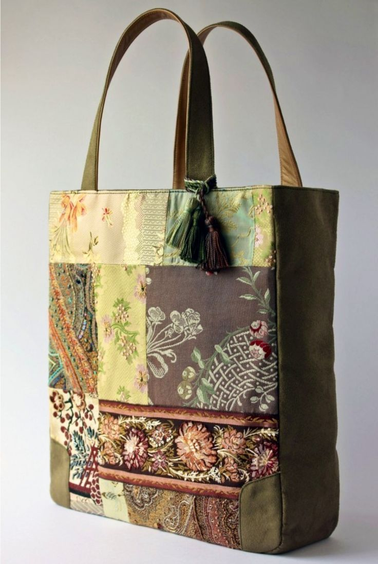 a tapestry patchwork bag
