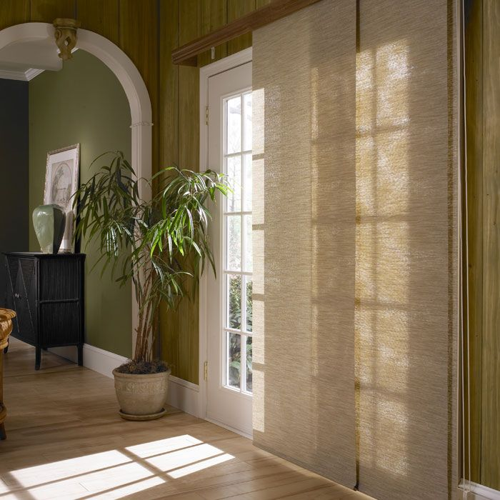Panel tracks are vertical window treatments that cover large windows and doors. Available in many of the same fabrics as roller and Roman shades, ...