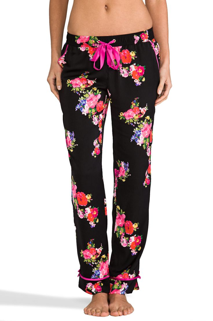 Juicy Couture Jazzy Floral PJ Pant in Black & Jazzy Floral from REVOLVEclothing