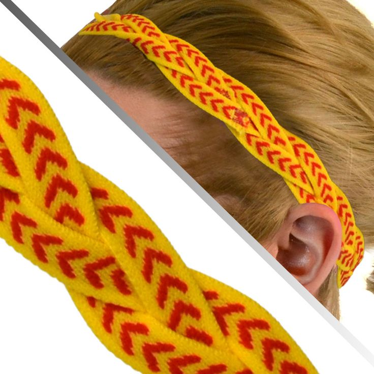 GripBand Softball Headband - Yellow Red Arrows | Softball Headbands | Headbands for Softball Players