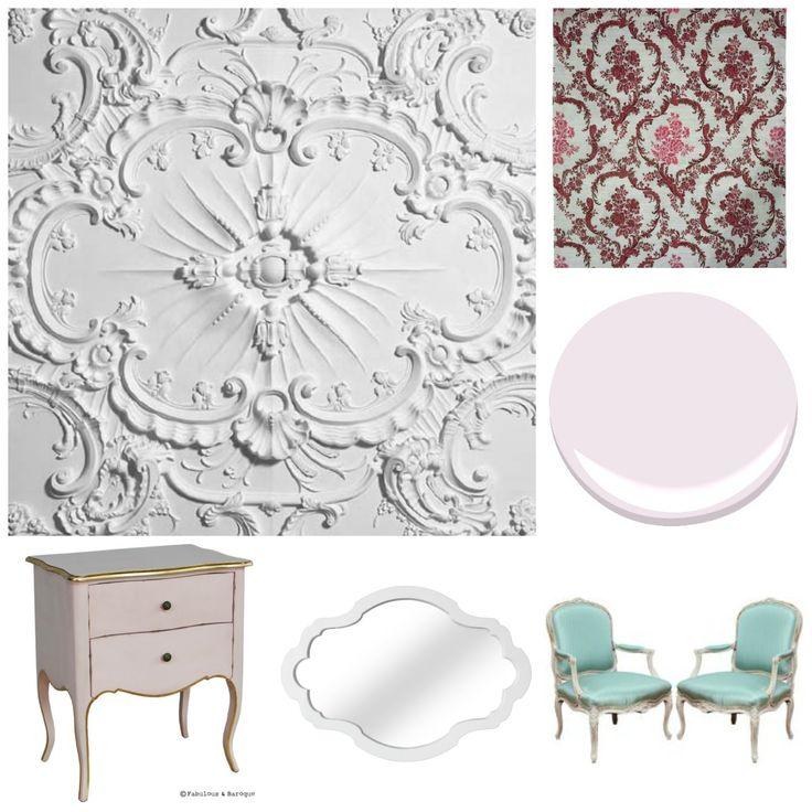 This Is My Rococo Design Board For A Client I Created As An Assignment