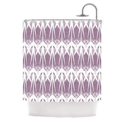 East Urban Home Arrow Lavender Shower Curtain