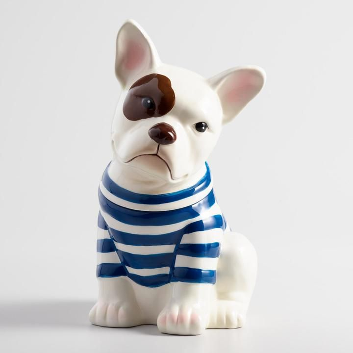 French Bulldog Ceramic Cookie Jar This Little Guy Is Just Too Cute Love It French Bulldog Gifts Bulldog Cookie Jar Bulldog Gifts