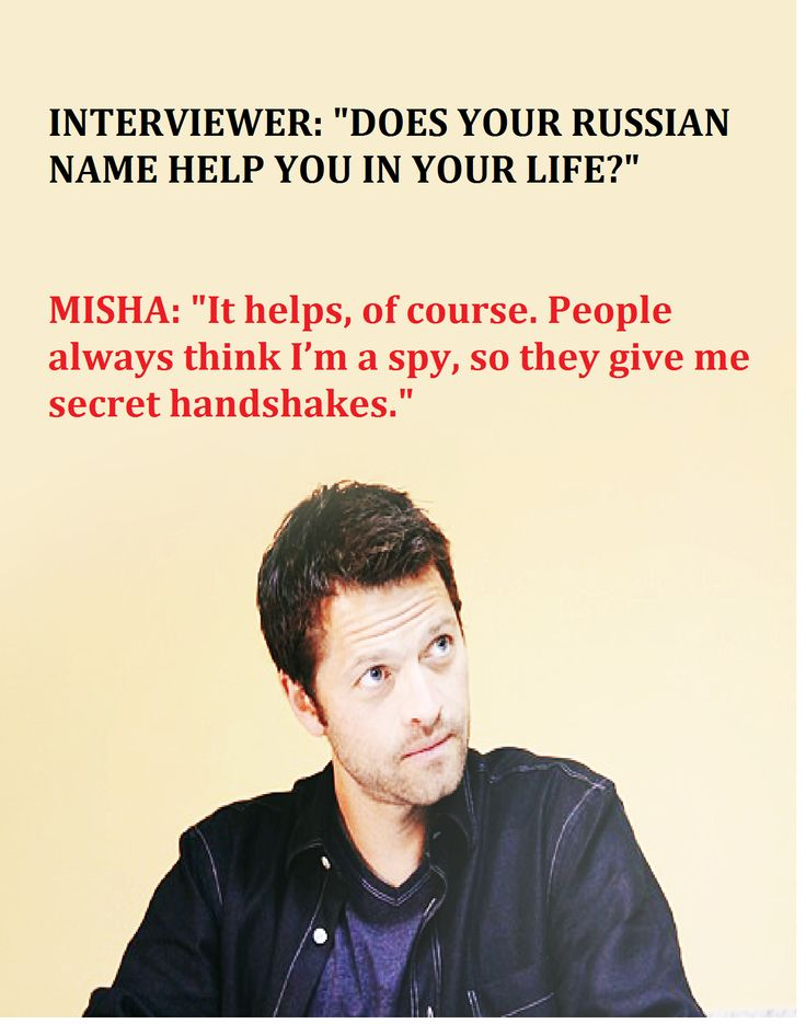 Mishau0027s Russian Name  Misha Collins Resume