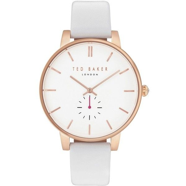 Women's Ted Baker London Olivia Round Leather Strap Watch, 40Mm ($165) ❤ liked on Polyvore featuring jewelry, watches, ted baker, quartz wrist watch, dial watches, ted baker jewelry and round watches