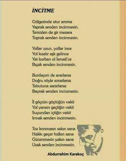 İNCİTME / Abdurrahim KARAKOÇ