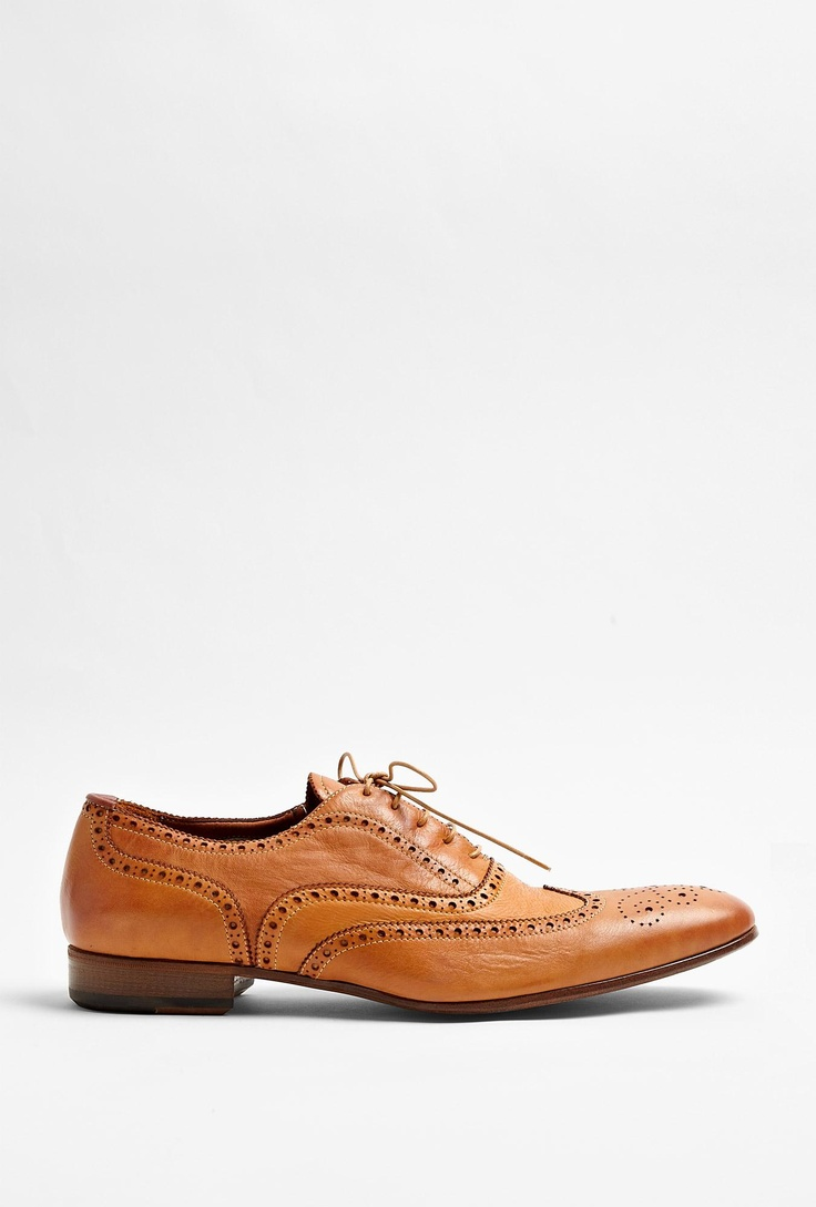 Tan Dip Dyed Leather Miller Brogues By Paul Smith by Paul Smith Shoes