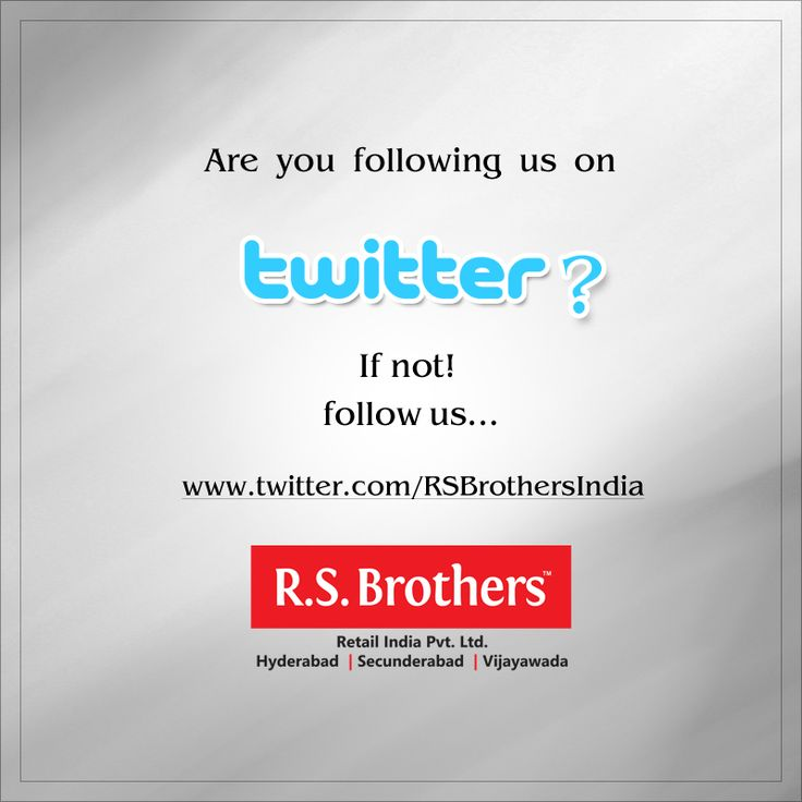 Are you following us on #Twitter?  If not! Then click here to find us - www.twitter.com/RSBrothersIndia