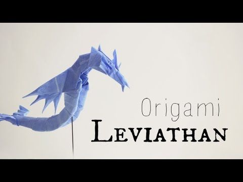 Origami Sea Dragon Leviathan 2.0 (Tadashi Mori) - Published on Jul 25, 2014 TadashiMori Patreon page: http://www.patreon.com/tadashimori Facebook page: http://www.facebook.com/TadashiOrigami Diagrams and CPs: www.origamiyard.com  Origami Leviathan (Sea dragon), by Tadashi Mori Based on Final fantasy VII Made using one square sheet of thai unryu paper. Paper size: 30cm (12 in) Difficulty: Intermediate   Video by: Tadashi Mori Don't forget to subscribe =) http://www.youtube.com/tadas