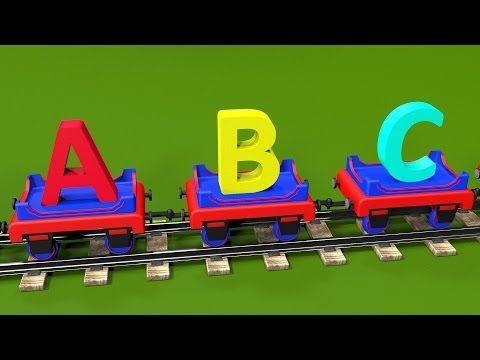 Apprendre l'alphabet en français avec le train Tchou-Tchou ! Dessin animé éducatif pour les petits. - YouTube
