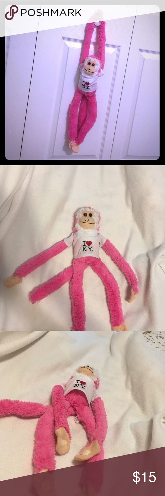 Bright Pink Monkey Will make a quite amusing sound once pressing monkey's belly! Bundle to save more🎉🎉 Disney Accessories