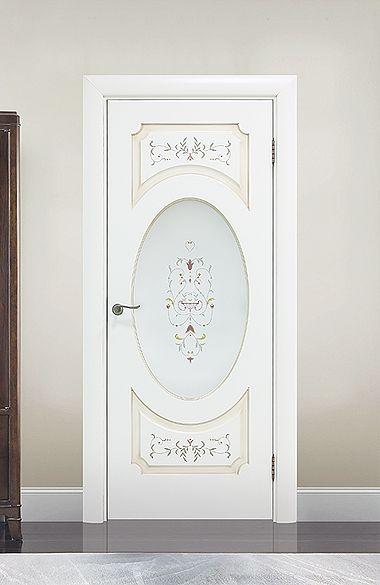 Межкомнатная дверь «Тоскана». Отделка «нежно-белая эмаль патина» #дверирулес #двери #межкомнатные #doors