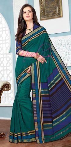 Coimbatore Cotton Saris Green Plain Wholesale Dealer BZ5056D77127