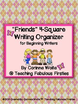 Here is a quick and easy way for your beginning writers to plan out a basic paragraph using a 4-square writing organizer. Four versions are included. The topic sentence is provided on one version and a writing prompt is provided on a blank 4-square. There are versions with transition words and without.