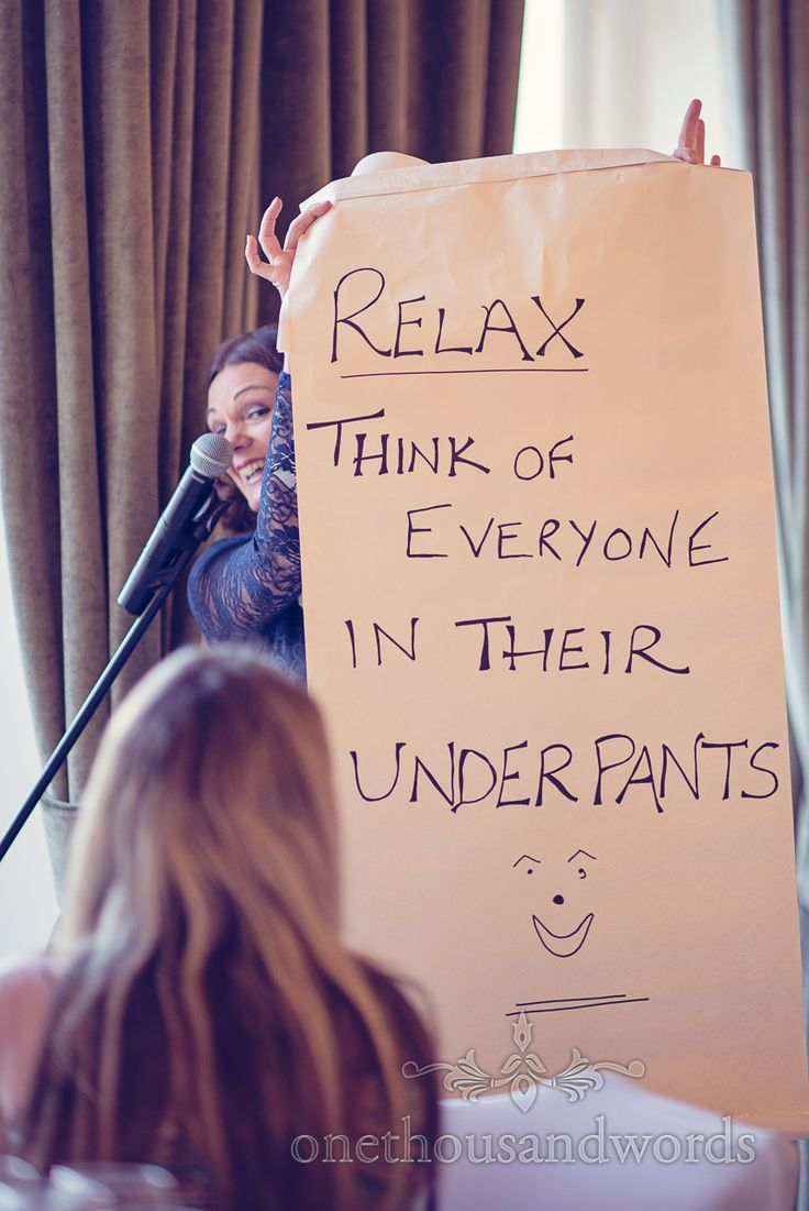 Mother Of The Bride Speech With Relax And Think Everyone In Their Underpants Sign Photography By One Thousand Words Wedding Photographers