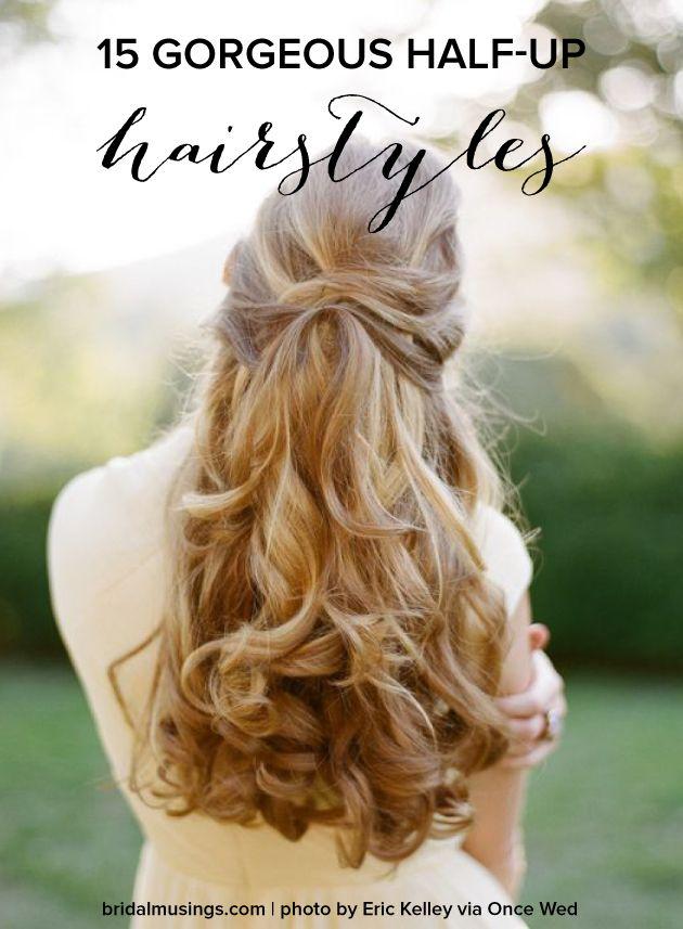 15 Gorgeous Half-Up Half-Down Bridal Hairstyles