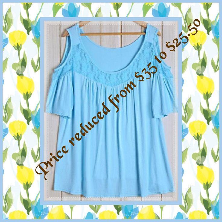 Size 22 Women's Blue Lace Blouse NZ$25.50 #CurvaceousWorldNZLtd #lovemybroaches #ilovesummer #chiffontops #plussized #curvaceouswomenrock #summertops #fashionearrings #freeshipping #affordable