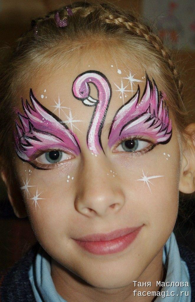 Flamingo. Face paint by Tanya Maslova.