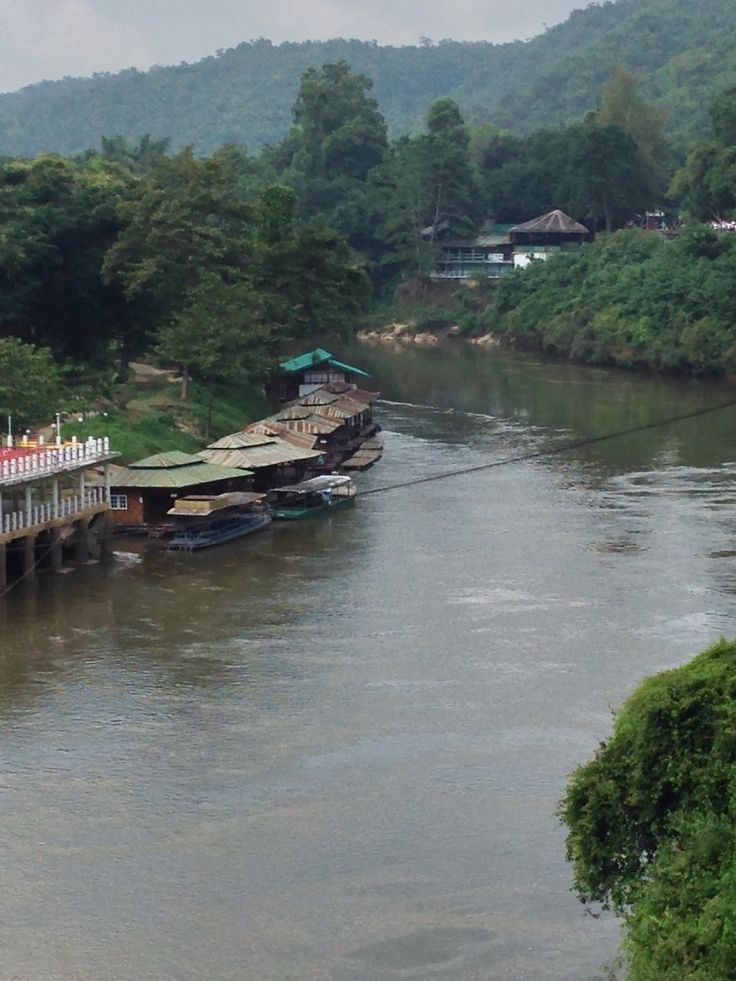 View from the train over the River Kwai