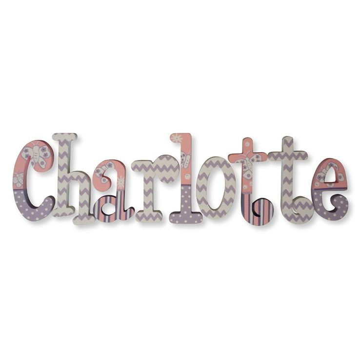 Rosenberry Rooms has everything imaginable for your child's room! Share the news and get $20 Off  your purchase! (*Minimum purchase required.) Charlotte Chevron Butterfly Hand Painted Wall Letters