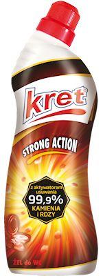 Żel do toalet KRET to połączenie aktywnych składników  z kwasem solnym. Zestaw ten tworzy unikalną, super silną w działaniu formułę zawierającą wysokoskoncentrowane aktywne składni...