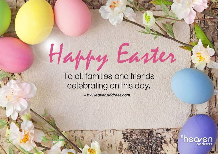 Happy Easter ~ To all families and friends celebrating on this day