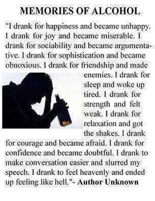 This is exactly y I drank and I'm happy I dnt now<3 90days so far:)