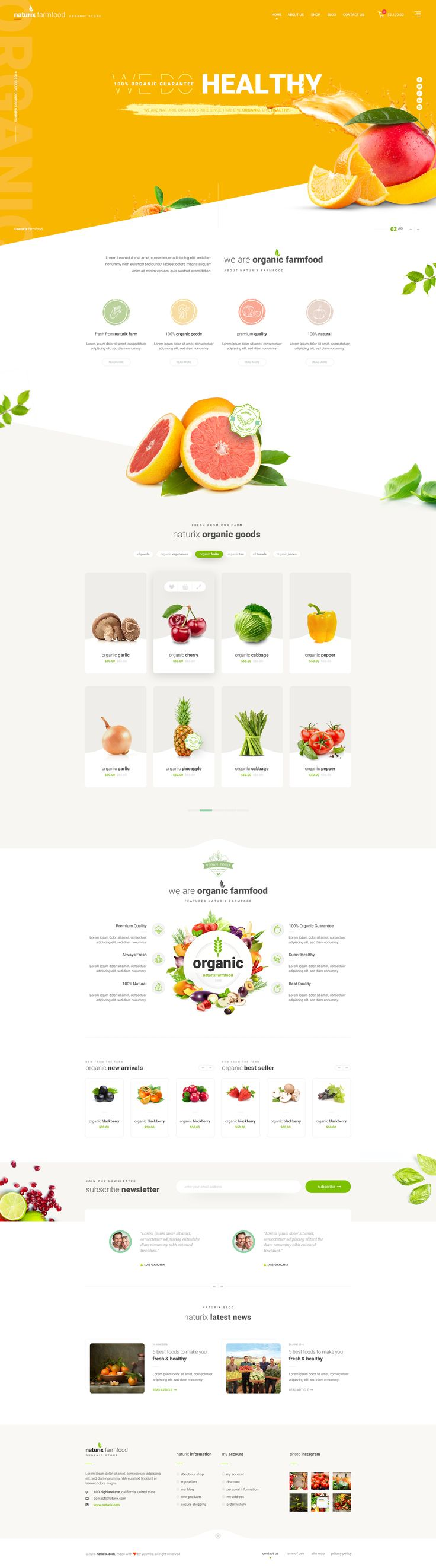 """Check out this @Behance project: """"Naturix - Organic Store"""" https://www.behance.net/gallery/46606993/Naturix-Organic-Store"""