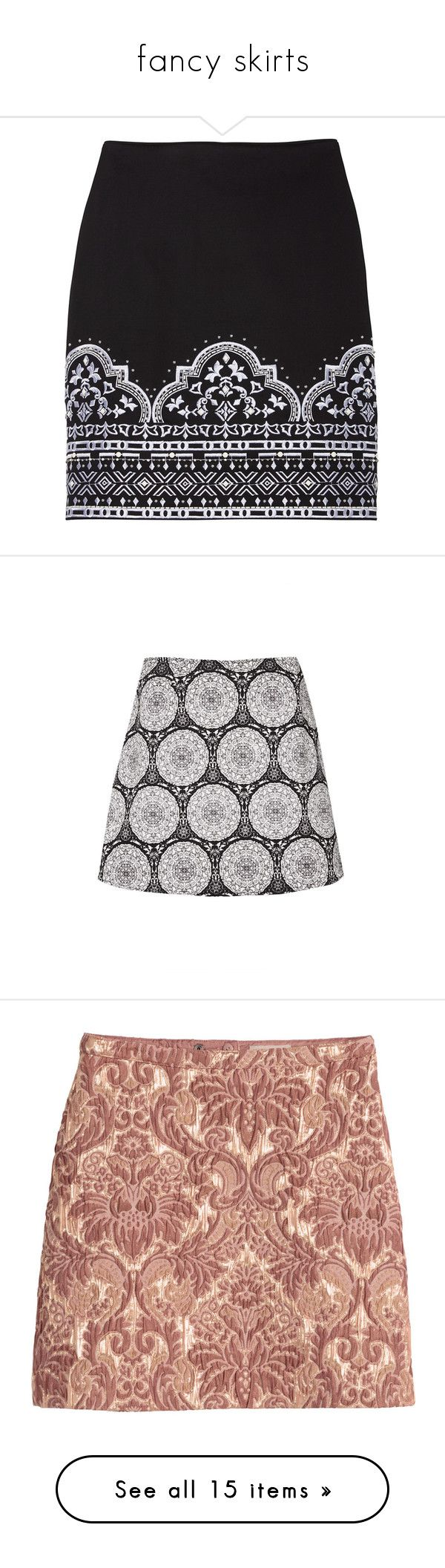 """""""fancy skirts"""" by chocolatemilky ❤ liked on Polyvore featuring skirts, faldas, sparkle skirts, sparkly pencil skirt, cotton skirts, petite pencil skirt, petite skirts, bottoms, multi and a-line skirt"""