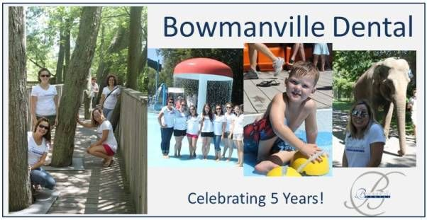 Bowmanville Dental Zoo Day Celebration.  On July 29, 2012, we at Bowmanville Dental celebrated our five year anniversary.  Over 300 of our wonderful patients joined us for the celebrations at our BBQ and Family Day at the Bowmanville Zoo.