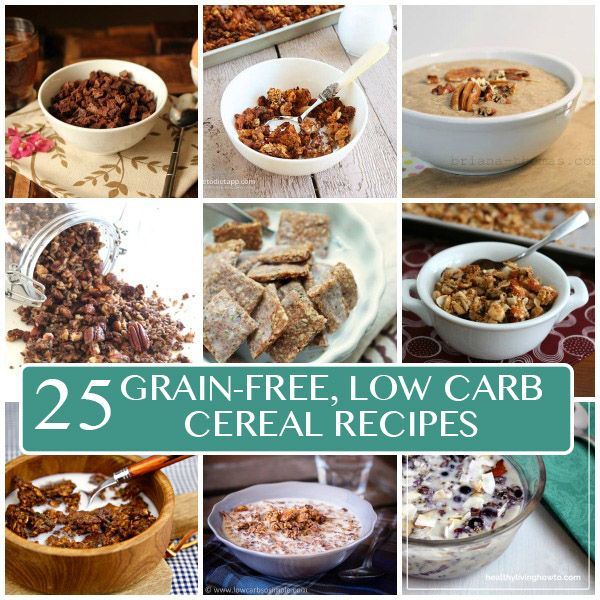 25 of the best low carb, grain-free and paleo cereal recipes the internet has to offer.