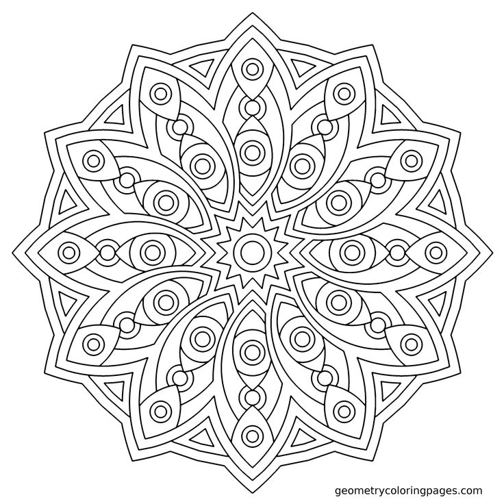 Pin by Angel Hardy on Color Pages ~ Mandalas Pinterest - best of coloring pages for shapes and colors