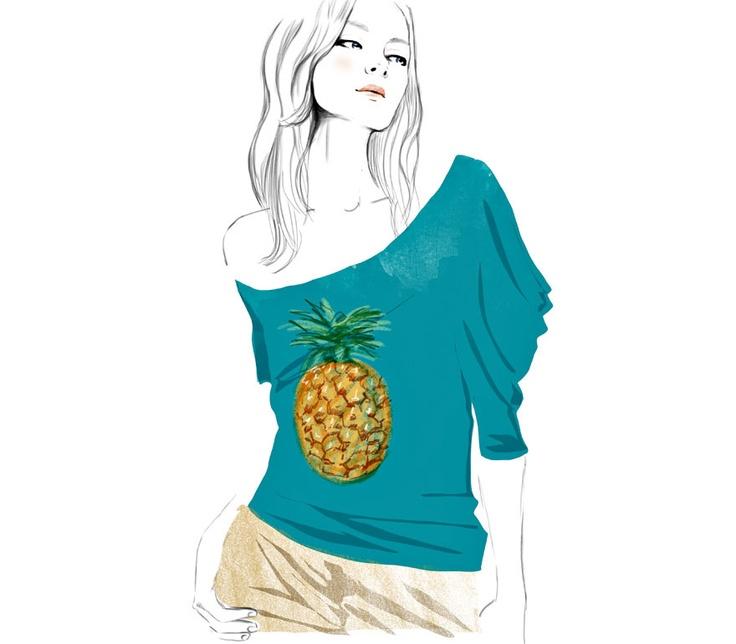 Le t-shirt Ananas de Stella McCartney - collection Chloé printemps-été 2001