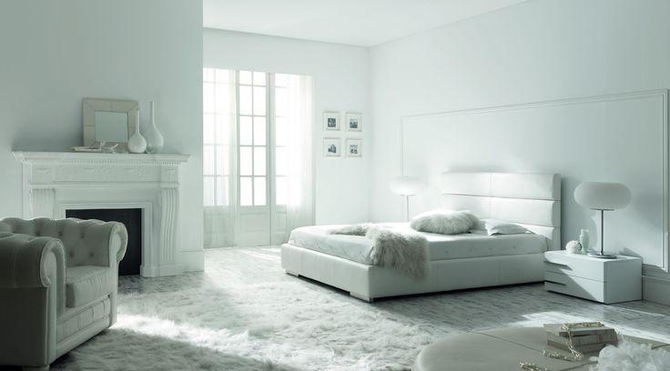 Atenas Modern Bed by Gamamobel, Spain #platformbed #modernfurniture #moderndesign #madeineurope #cadomodern #gamamobel