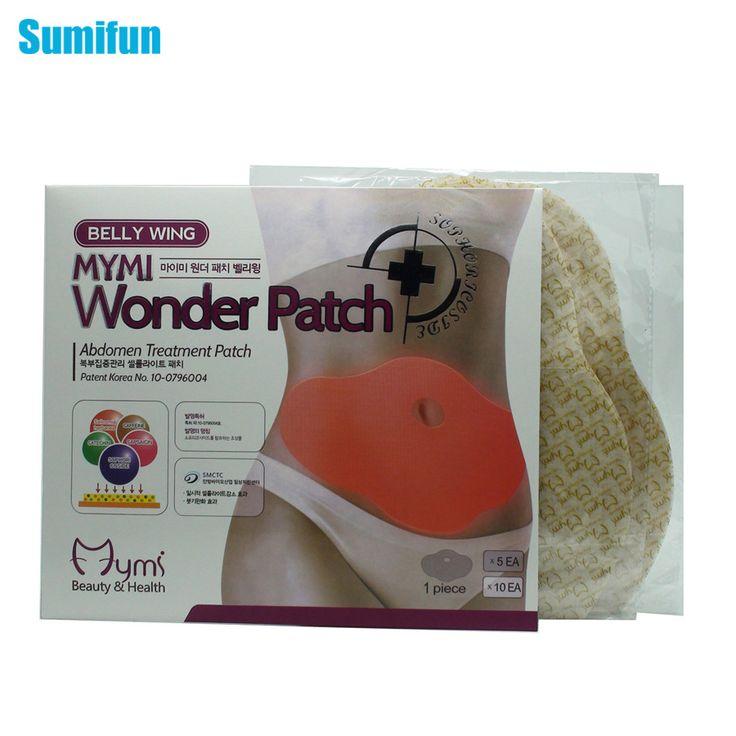 20Pcs MYMI Wonder Slimming Patch Belly Abdomen Weight Loss Fat Burning Cream Navel Stick Body Shapping Massage C323