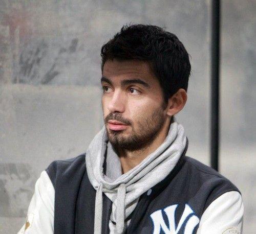 "PAOK FC's Stefanos ""Klaus"" Athanasiadis wearing a New York Yankees jacket."