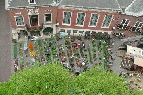 Markt vanaf de Vlaardingse toren