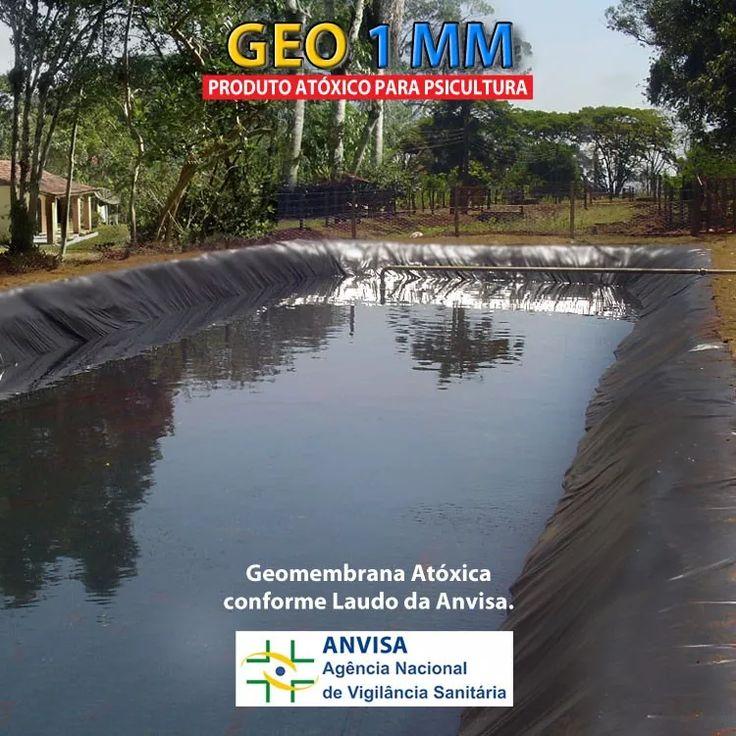 lona geomembrana atoxica 1 mm p/ tanque de peixe lagos