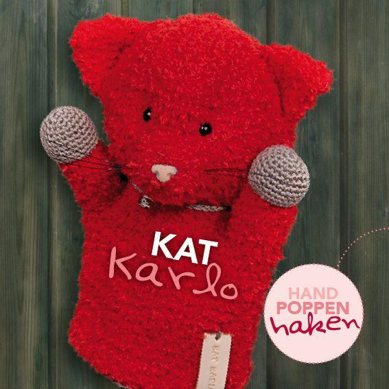 Kat Karlo uit mijn boek Handpoppen haken #haken #haakpatroon #gehaakt #amigurumi #knuffel #gehaakt #crochet #häkeln #cutedutch