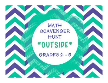 MATH, MATH EVERYWHERE!! is a fantastic end of the year Outdoor Scavenger Hunt and SIDEWALK SCOOT activity!  Its also a fun activity to use if you teach a summer school program!  Get your students outside to practice their math skills!  This Scavenger Hunt and SIDEWALK SCOOT is such a hit with our students!