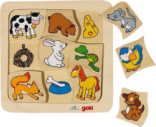 Priraďovacie puzzle Čo jedia zvieratká?