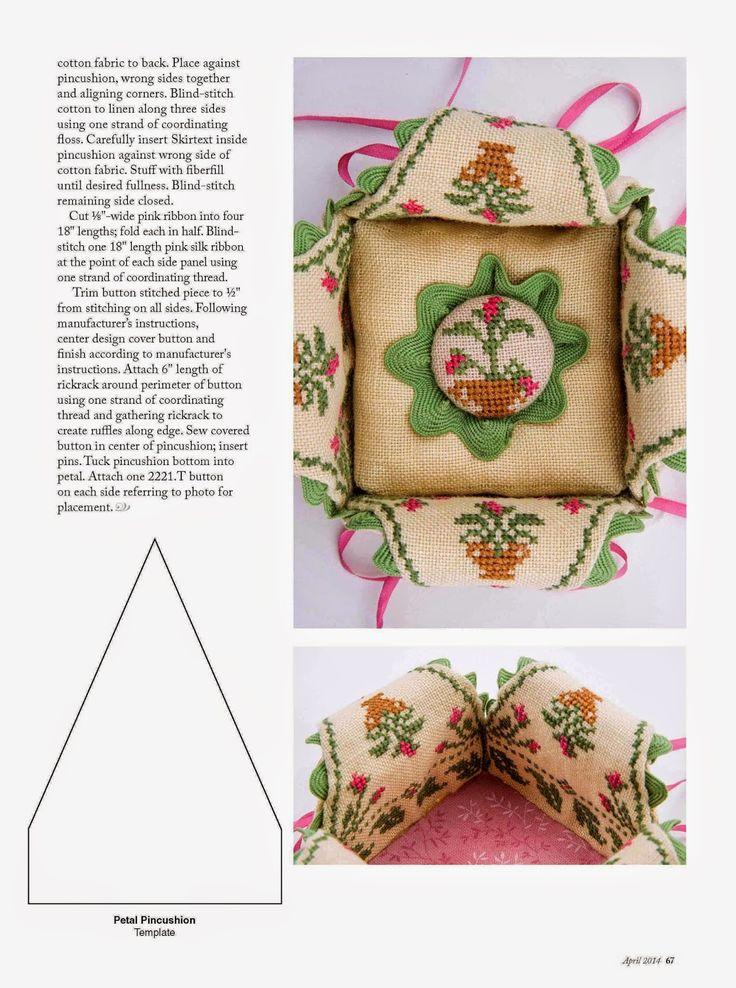 Милые сердцу штучки: Вышивка крестом: Игольница с лепестками