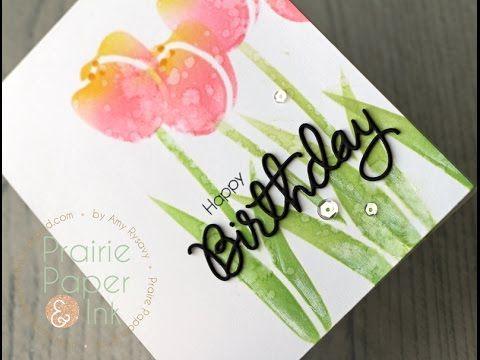birthday card stencils